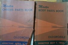 1950 Oldsmobile Master Body and Chassis Parts Book Catalog Set of 2 30's thru 50