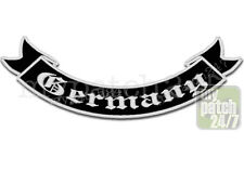 Rückenaufnäher Patch GERMANY Schwinge V2 unten 35cm gestickt, Rocker Biker Kutte