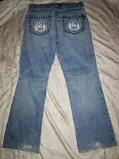 ROCK & REPUBLIC Distressed Men's Size 32 x 31 Jeans Boot Cut Button Fly