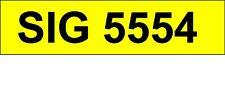 SIG 5554   Personalised Number Plate Private Registration.