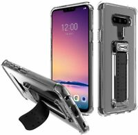 Scooch Wingman 5-in 1 Case for LG V40 ThinQ Clear RUGGED   Kickstand  Mount