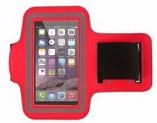 Fit iPhone SE/5 Armband Case Sports GYM Running Exercise Arm Band Holder RED