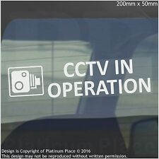1 x CCTV In Operation Warning Stickers-Camera Sign-Car,Van,Lorry,Taxi,Minicab