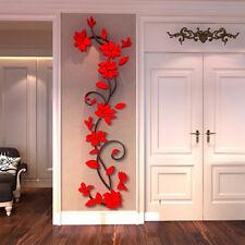 Wandtattoo Wandaufkleber Deko Rose Blume Wohnzimmer Sticker Kunst Wandgemälde