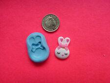 Kawaii Conejo De Silicona mould/mold de polímero de arcillas, alimentos, Jabón, metales preciosos de arcilla