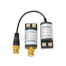 2 CCTV Passive Video Balun Transceiver BNC Cat5 UTP Connection Surveillance bps