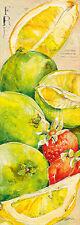 Elizabeth Espin: Fresh Bloc d'Art 25x70 Cuisine Fruit Citron décoration