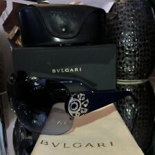 6a4ceb014a7c5 Bvlgari Sunglasses Swarovski Crystal Limited Edition 6074 Sapphire Blue  SOLD OUT
