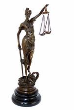 JUSTIZIA Bronze Figur JUSTITIA GÖTTIN DER GERECHTIGKEIT