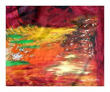 "Cosima French Artist ""Never Ending World""  Original Acrylic Large Canvas On Sale"