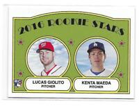 2016 Topps TBT Set #17 Lucas Giolito / Kenta Maeda RC 1972 Rookie Stars Design