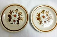 "2 Mountain Wood Collection Soup Salad Dessert Bowls Dried Flowers Design 6"""