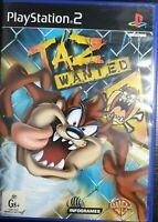 PS2 Taz Wanted Inc Manual