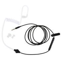 3.5mm Luftschlauch Kopfhörer Headset Anti Radiation Stereo Kopfhörer Für