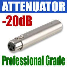 Xlr balanceada Atenuador en línea volumen | - 20db