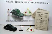 Wiking Sonderpackung 1:87 Pionier der Verkehrserziehung 990 29 - MB 220 Polizei