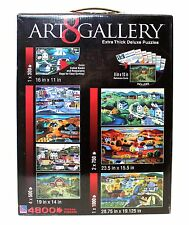 Art Gallery 8 Extra Thick Deluxe Puzzles Set Americana 4800 Pieces Steve Klein
