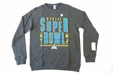 JUNK FOOD NFL SUPER BOWL XLVIII 48 DARK GRAY LARGE CREWNECK SWEATER MENS NWT