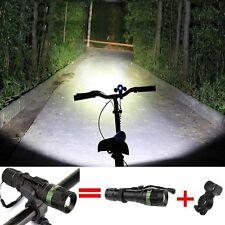 3000LM Zoombar CREE Q5 Bike Taschenlampe Fahrrad Scheinwerfer LED-Licht+Halter