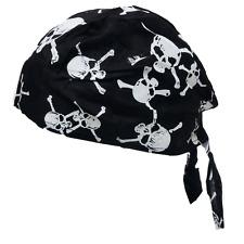 1pc Cotton SKULL CAP Du Rag Head Wrap Motorcycle Biker Hat Do Doo Black Bandana