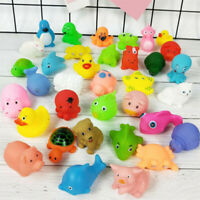 10PCS Bath Toy Set Baby Water Rubber Float Animals Sound Extrusion Shower Toys
