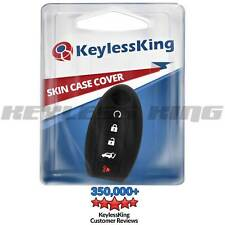 Key Fob Cover for 2008-2016 Nissan Rogue Remote Case Rubber Skin Jacket