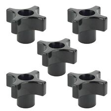 5 Pack of 4 Point Turn Plastic Jig Knobs 1/4 x 20 Threaded Thru Through