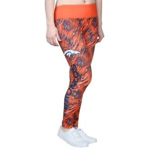 Denver Broncos NFL Orange Static Rain Leggings Yoga Pants Womens Sz XL NEW