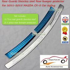 Mazda CX-5 Stainless Steel Rear External bumper protector &  Inner Bumper Guard