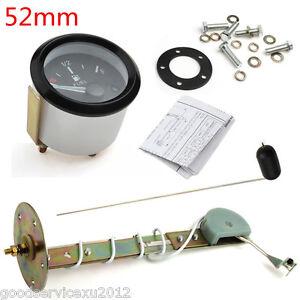 "Mini 2""52mm Black Round Car Truck Fuel Level LED Gauge Meter E-1/2-F Pointer Kit"