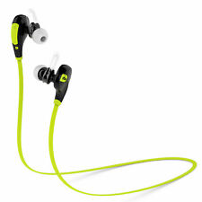Wireless Stereo Bluetooth Earphones Earpiece Mic For Running Jogging Fitness NEW