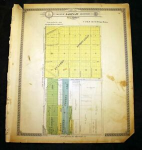 City of Saginaw & Environs sec 17 or sec 19 Sag. County Michigan 1916 Plat Map