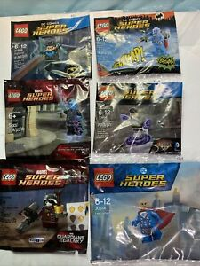 Lot Of 6 LEGO DC & Marvel Super Heroes Polybags 30603/30604/30606/30614/5002125.