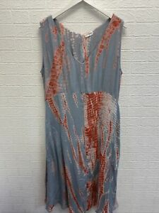 nomads grey pink tie dye long summer dress uk 16 ladies fashion clothing