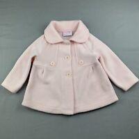 Girls size 2, Mango, pink fleece jacket / coat, GUC