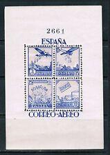Spain 1937 Civil War Ondara Souvenir Sheet, MNH**