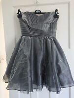 Grey Smoke Lipsy Prom Dress Size 10