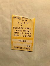 TOM RUSH CONCERT TICKET STUB MARCH 13 1977 WOOLSEY HALL YALE UNIVERSITY