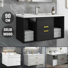 Bathroom Vanity Cabinet Storage Drawer Cupboard Sink Basin Unit Wall Mounted