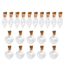20pcs Waterdrop/Heart Shape Mini Glass Bottles Cork Vials Charms Pendant DIY