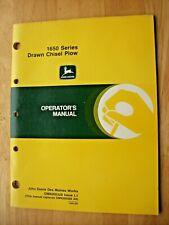 Original John Deere 1650 Series Drawn Chisel Plow Operators Manual