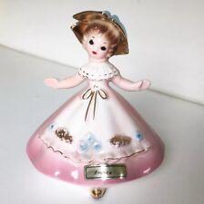Josef Originals France Little Internationals Figurine Blue Hat Pink Dress