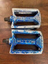 Kkt Amx Old School Bmx Blue pedals 1/2� For 1pc cranks