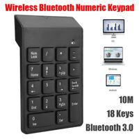 Wireless Bluetooth Numeric Keypad Keyboard Num Pad 18 Keys For Windows Android