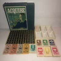 Vtg. 1962 ACQUIRE 3M Bookshelf Board Game 100% Complete in Box Inventoried