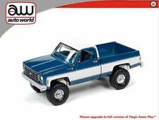 AUTO WORLD BRIGHT BLUE / WHITE 1978 CHEVY K10 SILVERADO TRUCK  - *PRESALE*