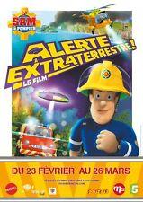 Affiche Pliée 120x160cm SAM LE POMPIER Alerte Extraterrestre Le Film (2017) BE