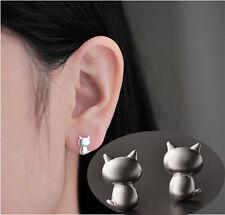 1 Paar Mini Katze Muster Ohrstecker Damen Ohrring Ohrschmuck Ear Studs #24114