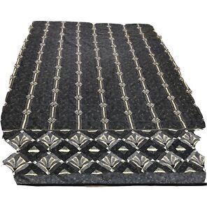 Vtg Gray Geometric Quilt Comforter King Size