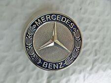 MERCEDES Hood Bonnet Badge Emblem Blue & Chrome A 204 817 06 16 Free US Shipping